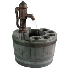 Whiskey Barrel Planter Fountain
