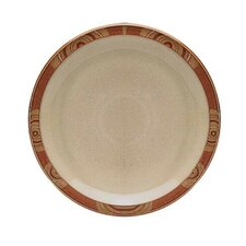 "Fire Chilli 10.5"" Accented Rim Dinner Plate"
