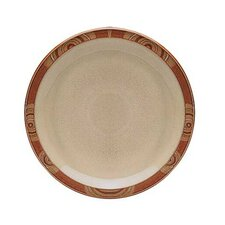 "Fire Chilli 9"" Accented Rim Salad Plate"