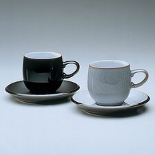 <strong>Denby</strong> Jet 10.5 Ounce Grey Small Curve Mug