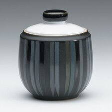 <strong>Denby</strong> Jet Stripes 10 Ounce Covered Sugar Bowl