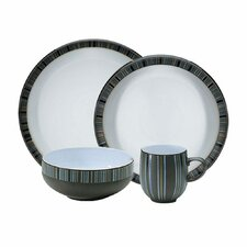 Jet Stripes 4 Piece Place Setting