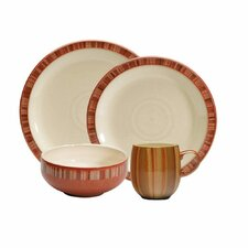 Fire Stripes 4 Piece Place Setting