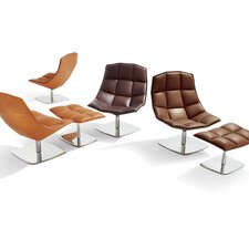 Jehs+Laub Lounge Chair and Ottoman with Pedestal Base