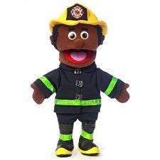 """14"""" African-American Fireman Glove Puppet"""