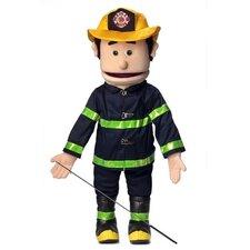 "25"" Caucasian Fireman Full Body Puppet"