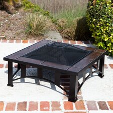 <strong>Fire Sense</strong> Tuscan Tile Mission Style Fire Pit Table