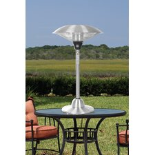 <strong>Fire Sense</strong> Stainless Steel Table Top Round Halogen Electric Patio Heater