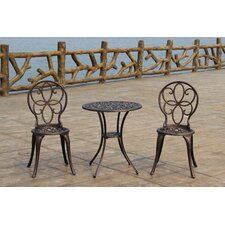 <strong>Fire Sense</strong> Antique Bronze Cast Aluminum 3pc. Bistro Set