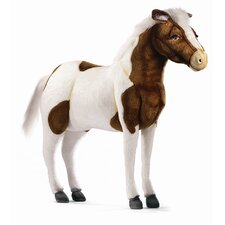 <strong>Hansa Toys</strong> Ride-On Shetland Pony in Stuffed Animal Brown and White
