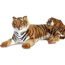 Bengal Lying Tiger Stuffed Animal