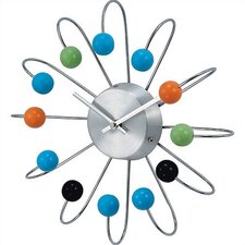 Bent Spokes Modern Wall Clock in Multi-Color