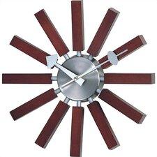 Valora Modern Wall Clock in Walnut