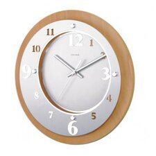 Wooden Laser Cut Metal Clock in Natural Wood