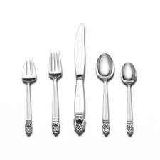 Royal Danish 5 Piece Flatware Set with Cream Soup Spoon