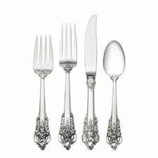Sterling Silver Grande Baroque 4 Piece Flatware Set