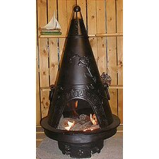 <strong>The Blue Rooster</strong> Garden Style Chiminea with Gas Kit