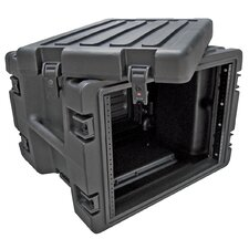 8U Roto Rolling Rack in Black