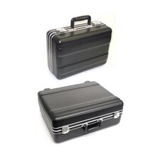"LS Series Luggage Style Transport Case: 7 3/8"" H x 21 3/8"" W x 14 5/8"" D (outside)"