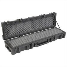 "Mil-Standard Roto Case w/ Dual Layer Foam and Wheels in Black: 52.5"" L x 12.125"" W x 8"" D (inside)"