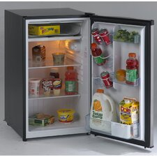 4.4 cuft Refrigerator Black-Stainless Steel Door