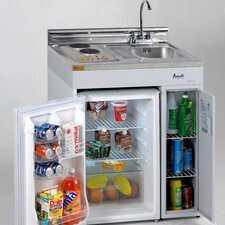 "<strong>Avanti Products</strong> 30"" Complete Compact Kitchen with Refrigerator"