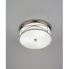 "<strong>Robert Abbey</strong> Chase 6.25"" 3 Light Flush Mount"
