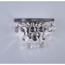 Bling Crystal Drop 2 Light Wall Sconce