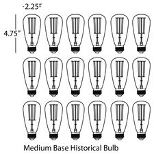 Candelaria Light Bulb (Pack of 18)