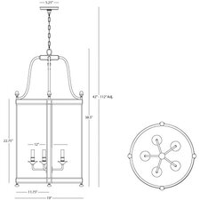 Blake 5 Light Foyer Pendant