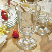 <strong>French Home Gourmet</strong> LaRochere 8 Ounce Footed Wine Glass in Napoleonic Bee Motif (Set of 6)