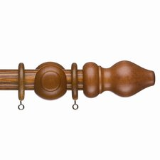 Tuscany Curtain Pole with Ring in Teak