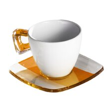 Square Coffee Crystal Teacup