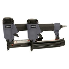 Pneumatic Brad Nailer and Air Stappler Tool Combo Kit