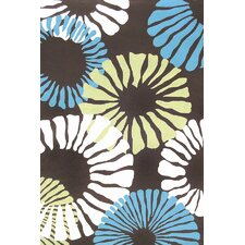 Sawgrass Mills Fruit Cocktail Brown Indoor/Outdoor Rug