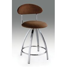 "26"" Microfiber Barstool in Brown"