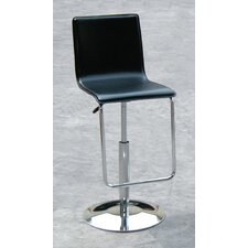 Swivel Leather Barstool with Gas Lift