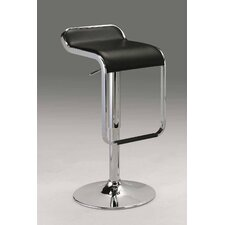 "21""-31"" Leatherette Swivel Barstool in Black"