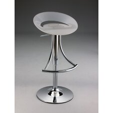 Swivel Barstool with Gas Lift in White Acrylic