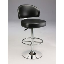 Padded Leatherette Barstool with Gas Lift