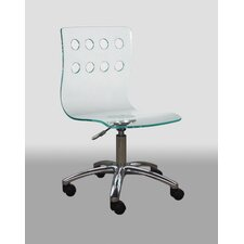 <strong>Creative Images International</strong> Low-Back Acrylic Office Chair