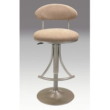 "25"" Adjustable Swivel Bar Stool with Cushion"