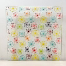 "Tempered Glass 9.5"" Floral Painter Plate (Set of 4)"