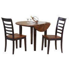 <strong>Winners Only, Inc.</strong> Contemporary Farmhouse 3 PIece Dining Set