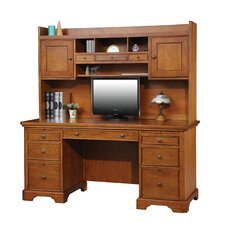Flat Top Desk with 3 Drawer Hutch