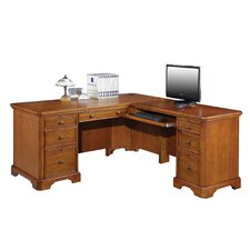 L Shaped Executive Desk with Drawers