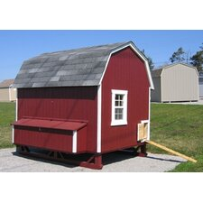 Gambrel Barn Chicken House with Ramp and Nesting Box