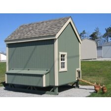 6 x 8 Colonial Gable Chicken Coop