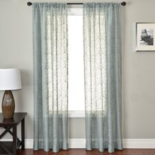 Badi Medallion Rod Pocket Curtain Single Panel