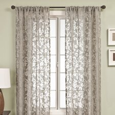 Badi Scroll Rod Pocket Curtain Single Panel